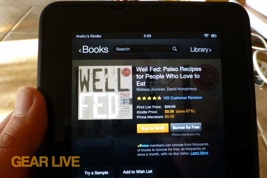 Amazon Kindle Fire HD 7 Lending Library