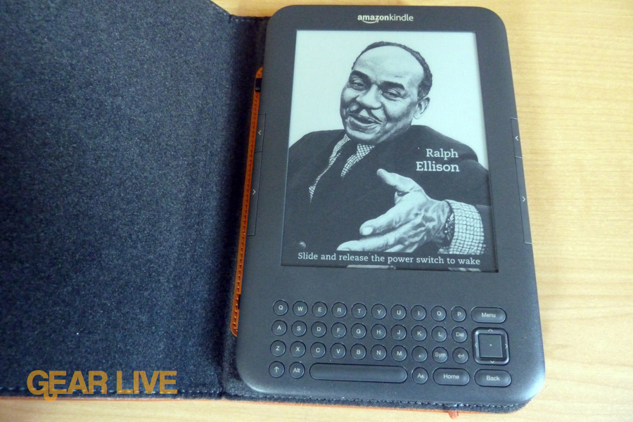 Kindle 3 in the Lighted Leather Cover