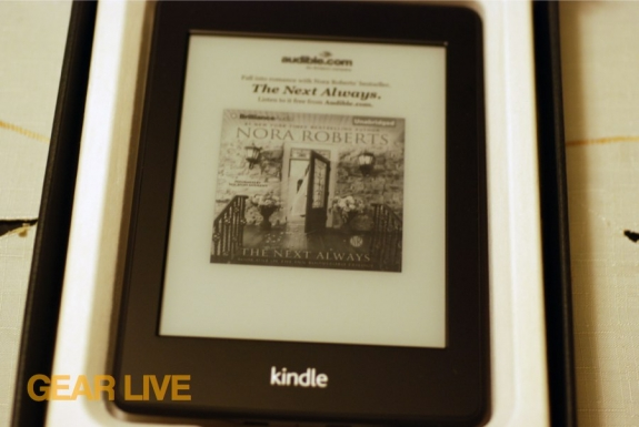 Kindle Paperwhite in the box