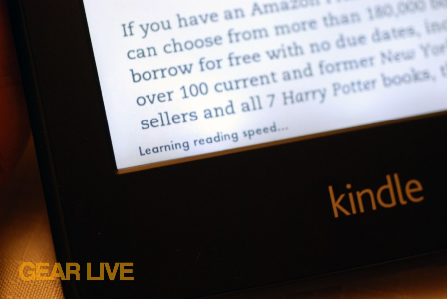 Kindle Paperwhite read speed
