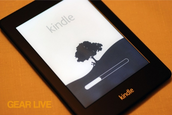 Kindle Paperwhite turned on
