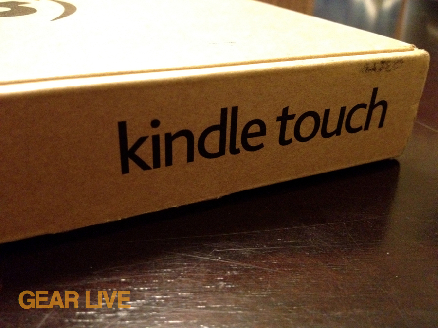 Kindle Touch logo on box
