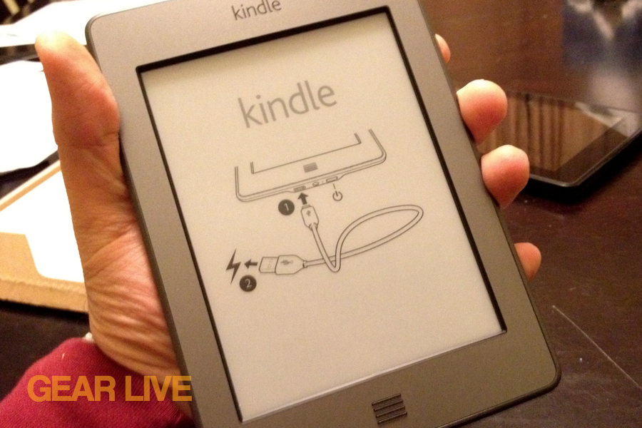 Kindle touch in-hand