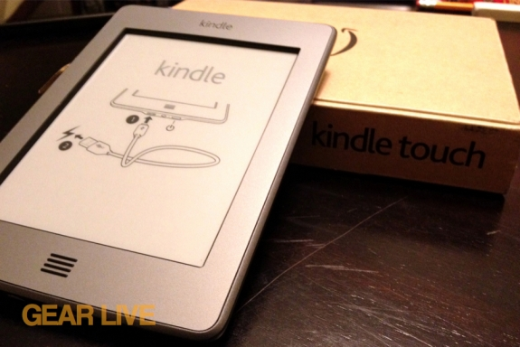 Kindle touch unboxed