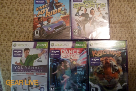 Kinect game box art