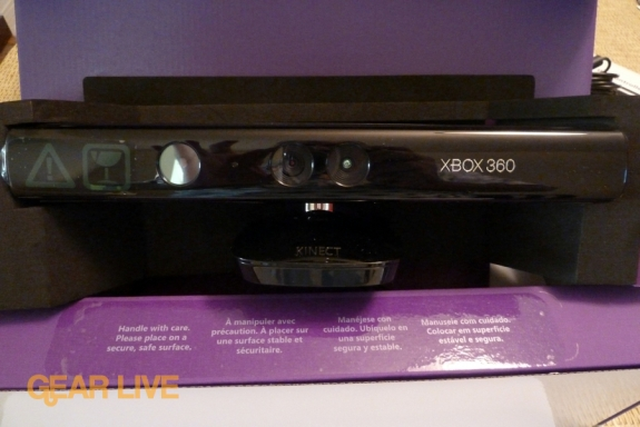 Kinect review in box