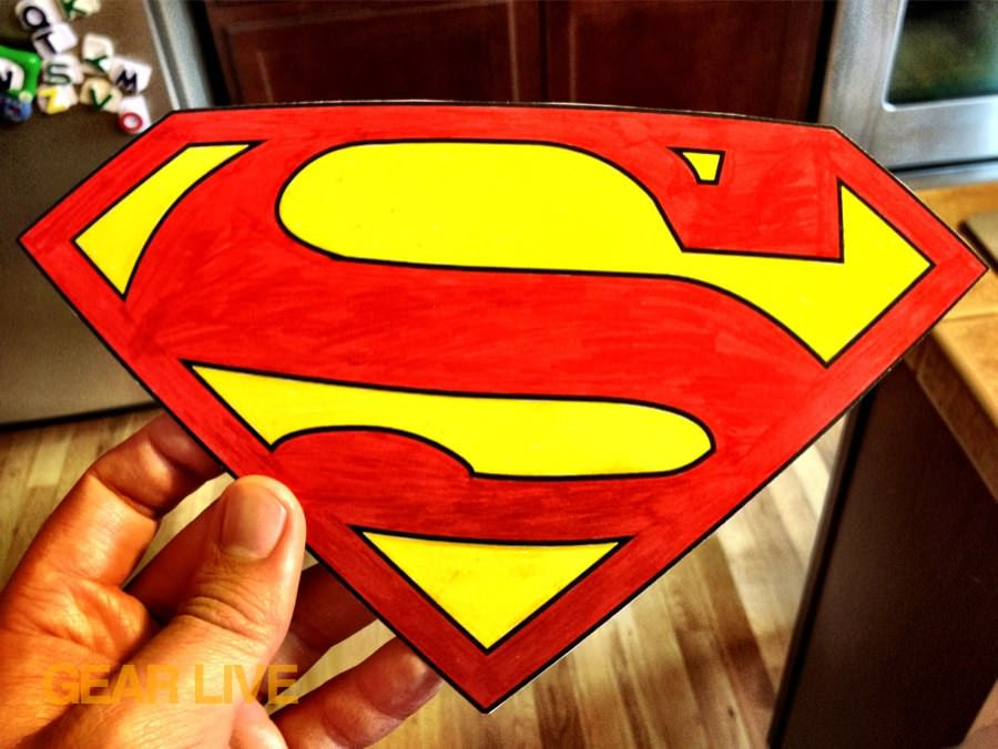 Superman logo for LEGO Superhero Halloween costumes