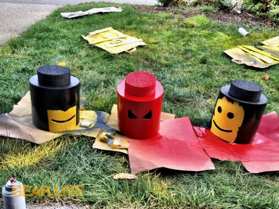 LEGO Superhero costume heads