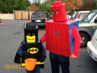 LEGO Superhero Halloween costumes on Halloween