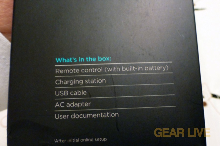 Logitech Harmony Touch box contents