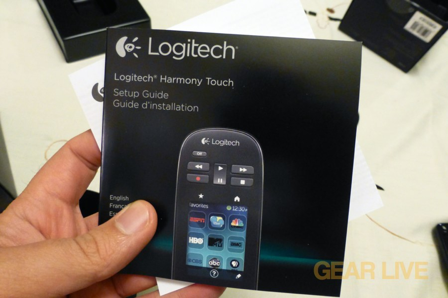 Logitech Harmony Touch instruction book