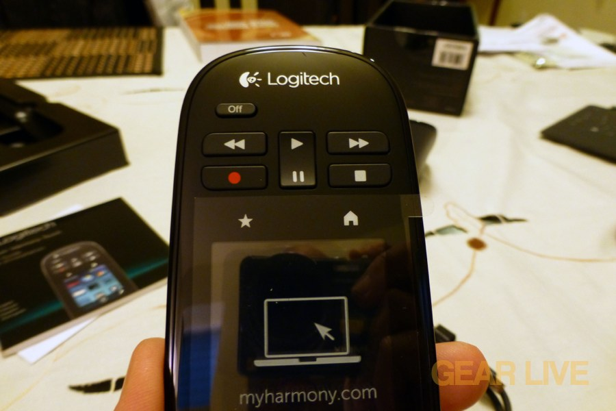 Logitech Harmony Touch top buttons