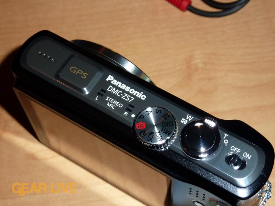 Panasonic Lumix ZS7: Top