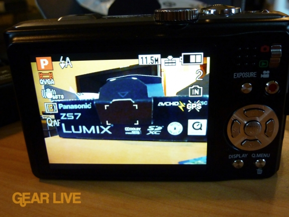 Panasonic Lumix ZS7 display screen