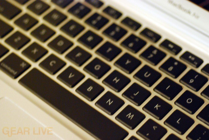 MacBook Air keyboard shot