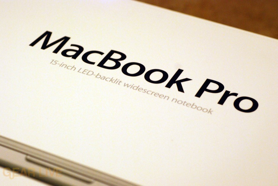 MacBook Pro 2008 box wording