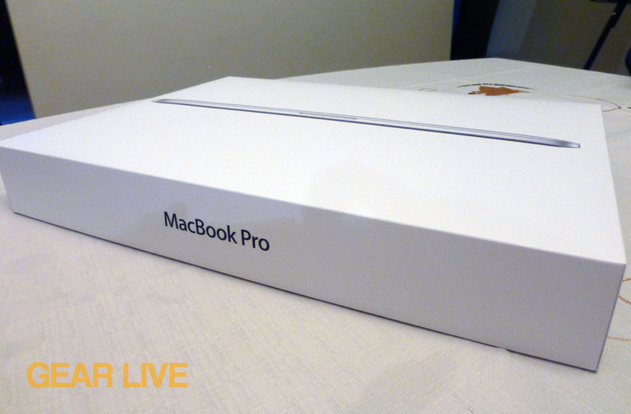 MacBook Pro with Retina display box