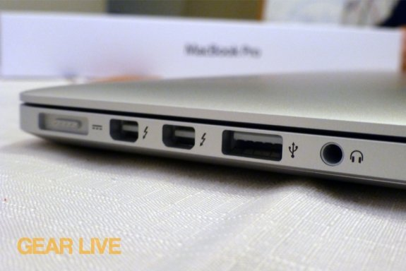 MacBook Pro with Retina display i/o ports