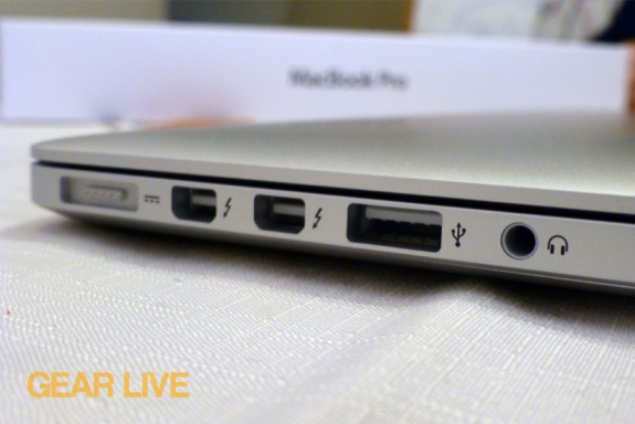 MacBook Pro with Retina display ports