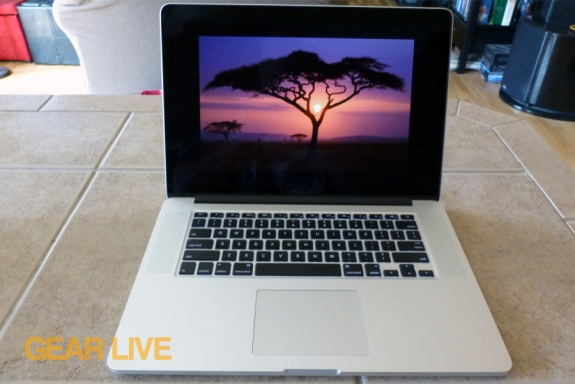 MacBook Pro with Retina display screensaver