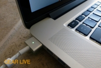 MacBook Pro with Retina display plugged in