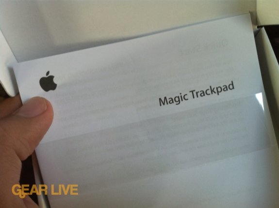 Magic Trackpad manual