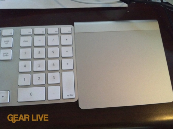 Magic Trackpad set up next to Apple Keyboard
