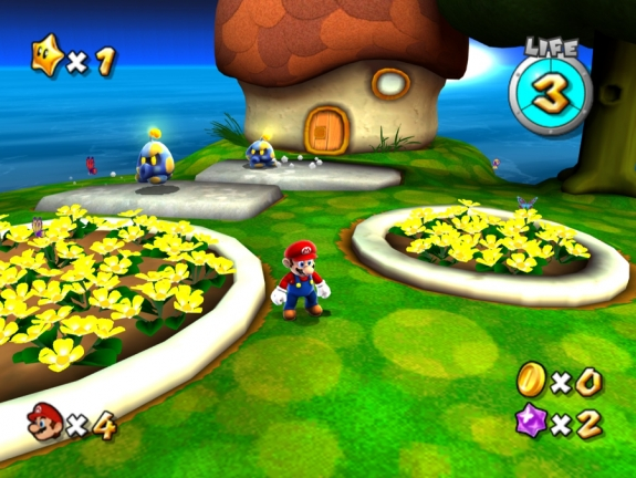 Mario Galaxy HD: Mario in Grass