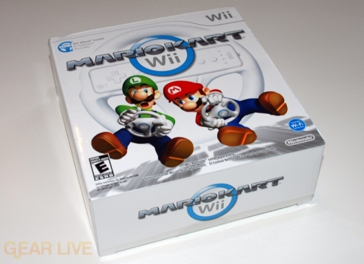 The Mario Kart Wii box