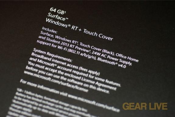 Microsoft Surface specs