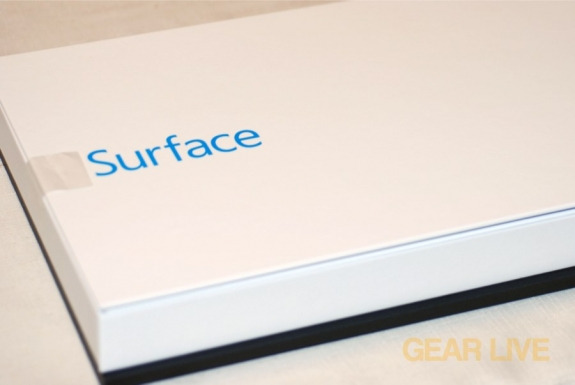 Microsoft Surface inner box