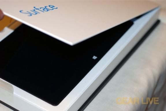 Opening Microsoft Surface box