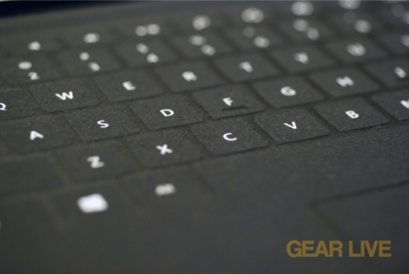 Surface Touch Cover keys