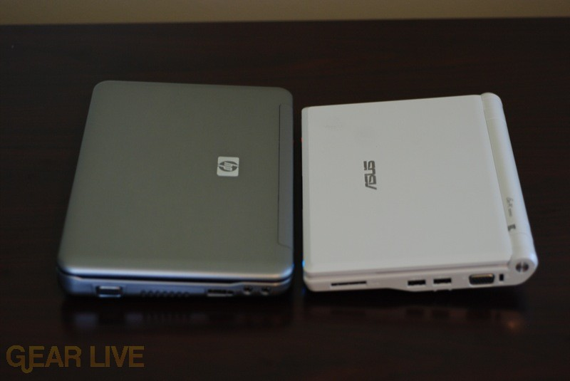 HP Mini-Note and Eee PC from above