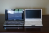 HP Mini-Note and Eee PC together