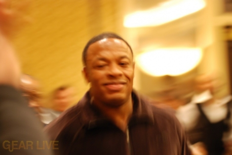 Dr. Dre heading to stage to show off Beats Headphones