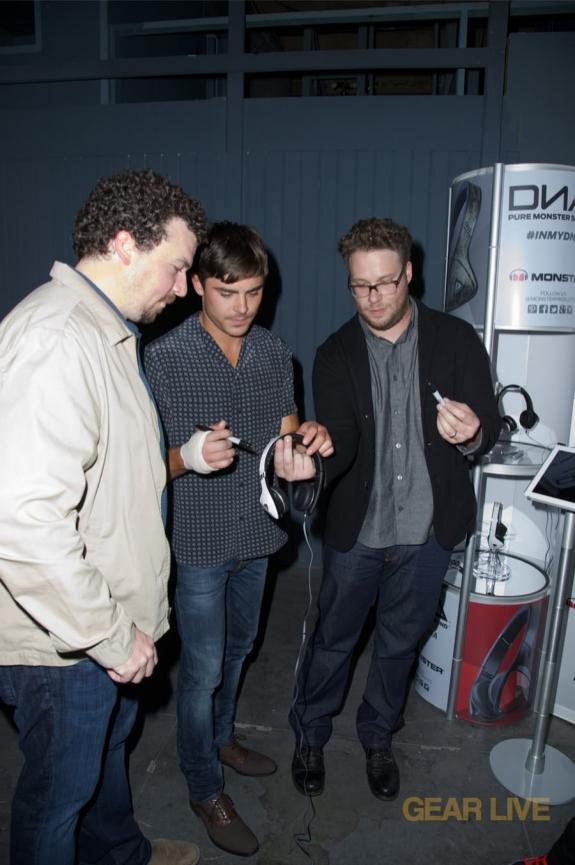 Seth Rogan, Zac Efron, Danny McBride sign Monster DNA White Tuxedo headphones