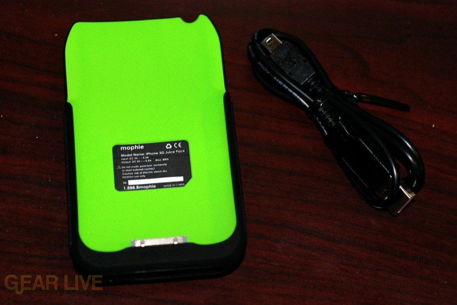 Mophie Juice Pack 3G with USB cable