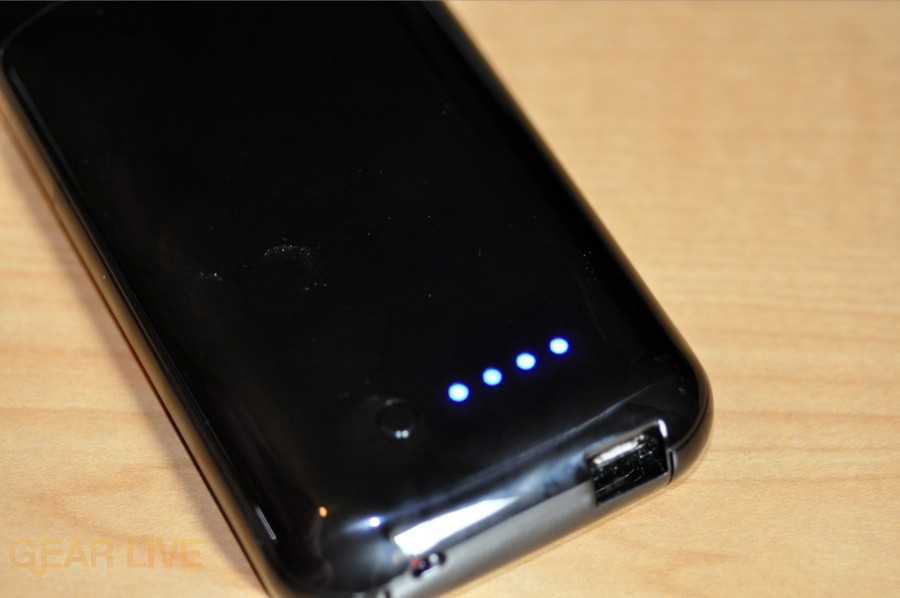 Mophie Juice Pack Air battery indicator