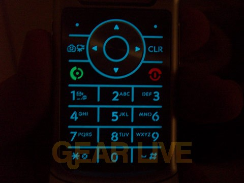 KRZR Keypad Backlight