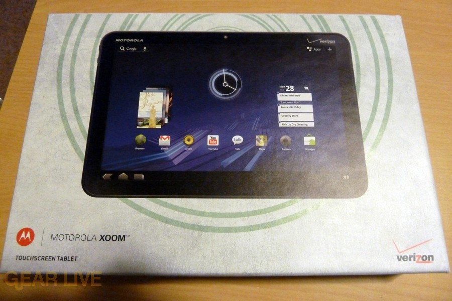 Motorola Xoom box front
