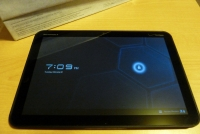 Motorola Xoom powered on
