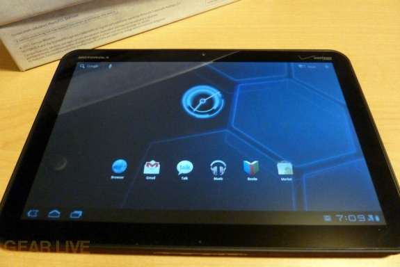 Motorola Xoom home screen