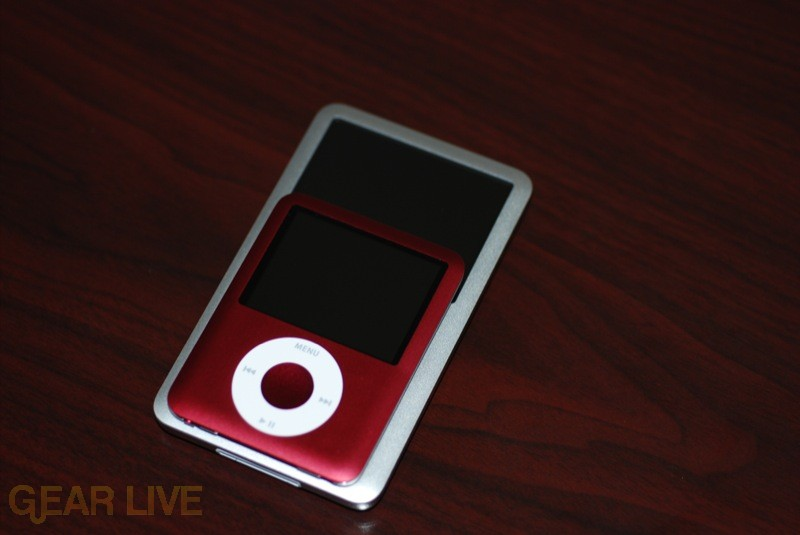 iPod nano on top of iPod classic