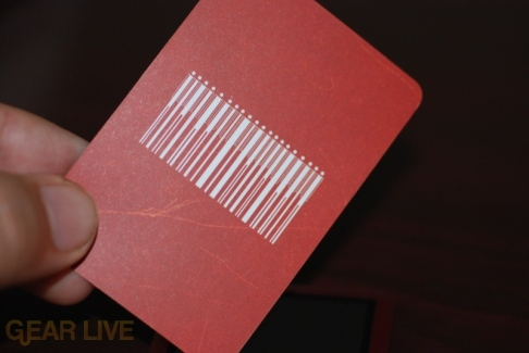 The included (PRODUCT) RED card
