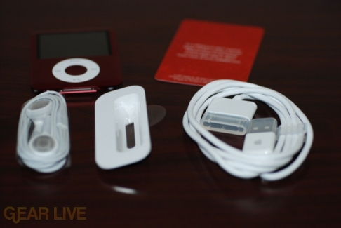 iPod nano bundled accessories