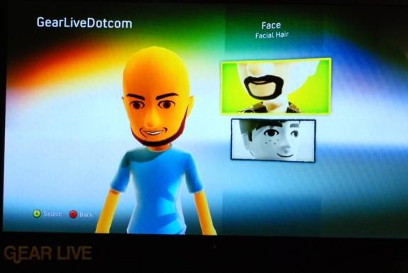 New Xbox Experience: Customize Avatar Facial Hair