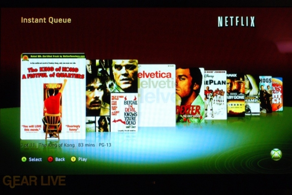 New Xbox Experience: Netflix