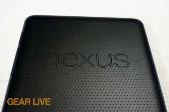 Nexus 7 logo on rear