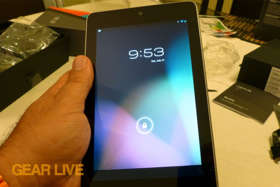 Nexus 7 powered on